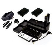 Kit Battery Grip MB-D5000H para Nikon + 2 baterias En-El9 + Carregador