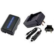 Kit Bateria NP-FM55H + carregador para Sony Alpha DSLR-A100