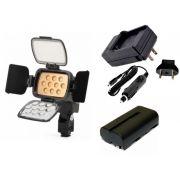 Kit Iluminador de LED Profissional LED-VL001B + Bateria NP-F550 + Carregador