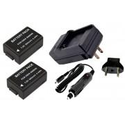 Kit 2 Baterias DMW-BMB9 para Panasonic DMC-FZ40, DMC-FZ45, DMC-FZ47, DMC-FZ48, DMC-FZ100, DMC-FZ150