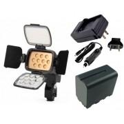 Kit Iluminador de LED Profissional LED-VL001B + Bateria NP-F950 + Carregador