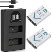 2 Baterias + Carregador Duplo DL NP-BX1 para SONY