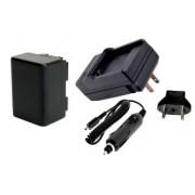 Kit Bateria BP-727 + carregador para Canon VIXIA HF M500, M52, M50, R300, R32, R30