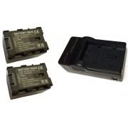 Kit 2 Baterias BN-VG121 + Carregador para JVC GZ-HD500, GZ-HM30, GZ-MG760, JVC GZ-MS110, GZ E200
