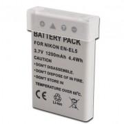 Bateria EN-EL5 para câmera digital e filmadora Nikon Coolpix 3700, 4200, 5200, 5900, 7900, P3, P4, P80, P90, P100, P500, P510