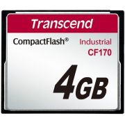Cartão de memória Compact Flash CF Transcend 4GB 170X Industrial com Adaptador iDE e Leitor USB