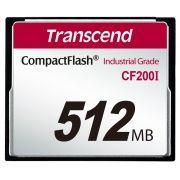 Cartão de memória CompactFlash CF Transcend 512MB TS512MCF200I 200x Industrial Grade