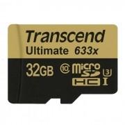 Cartão de Memória Transcend MicroSDHC 32GB Classe 10 UHS-1 Ultimate 633x
