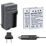 Kit 2 Baterias + Carregador EN-EL5 para Nikon
