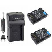 2 baterias DMW-BLF19E + Carregador para Panasonic