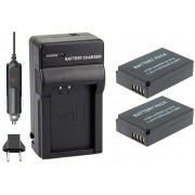 Kit 2 Baterias LP-E12 + carregador para Canon EOS-M EOS Rebel SL1