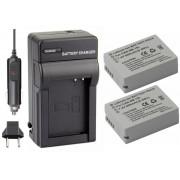 Kit 2 baterias NB-10L + carregador para Canon G1X, SX40, SX40HS
