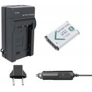 KIT BATERIA + CARREGADOR Sony NP-BX1 1240mAh para câmera digital e filmadora Sony DSC-RX1, DSC-RX100M2, DSC-HX300, HDR-MV1, HDR-AS15