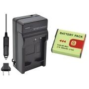Kit Bateria NP-BG1/FG1 + carregador para câmera digital e filmadora Sony Cyber-shot DSC-H10, DSC-W100, DSC-T20
