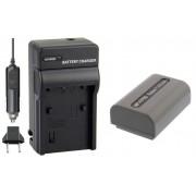 Kit Bateria NP-FP50 + carregador para câmera digital e filmadora Sony Dcr-dvd103 Dvd105 Dvd202 Dvd203 Hc3