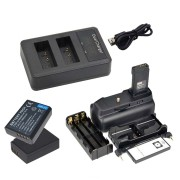 KIT BATTERY GRIP 1100DH + 2 BATERIAS LP-E10 + CARREGADOR Duplo PARA CANON EOS REBEL T5 T6 T7