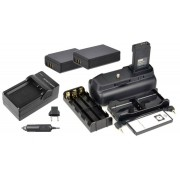 Kit Battery Grip 1100DH + 2 baterias LP-E10 + Carregador para Canon EOS Rebel T3 T5