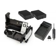 Kit Battery Grip MB-D3100 + 2 baterias EN-EL14 + carregador para Nikon D3100 D3200 D3300 D5300