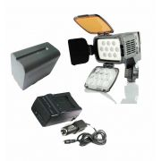 Kit LED-VL001A + 1 Bateria  NP-970 + Carregador