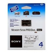 MEMORY STICK PRO DUO SONY 4GB MAGIC GATE