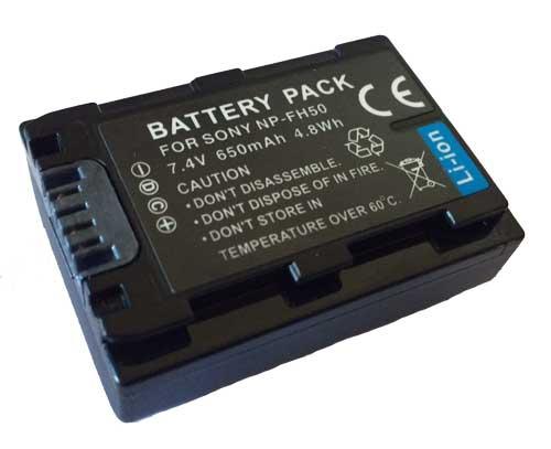 Bateria NP-FH50 para câmera digital e filmadora Sony DCR-DVD106, DCR-DVD208, DCR-DVD306, DCR-HC37, DCR-HC38