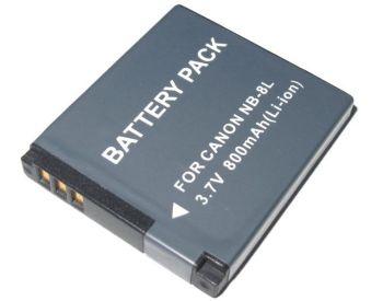Bateria NB-8L 800mAh para câmera digital e filmadora Canon PowerShot A3000 IS, A-2200