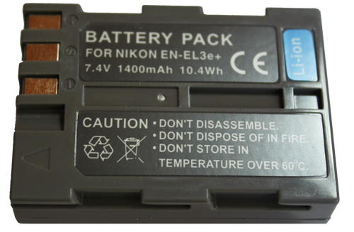 Bateria EN-EL3 1500mAh para câmera digital e filmadora Nikon D50, D70 Advance, D100 SLR