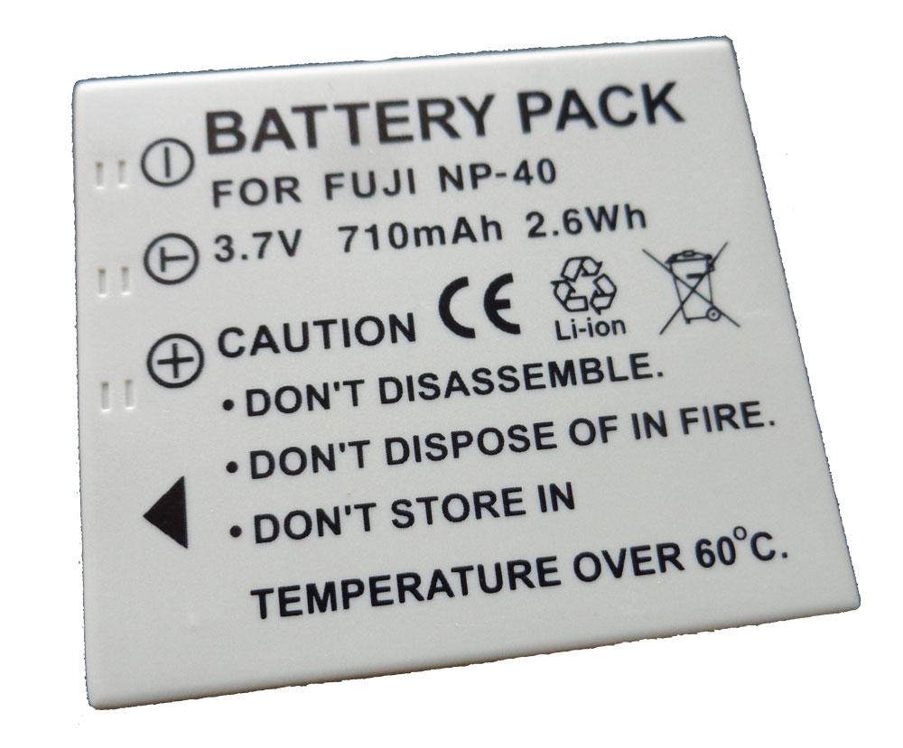 Bateria NP-40 para Fuji F455, F610, F710, F811, V10, V10 Zoom, Z1, Z5fd, J50