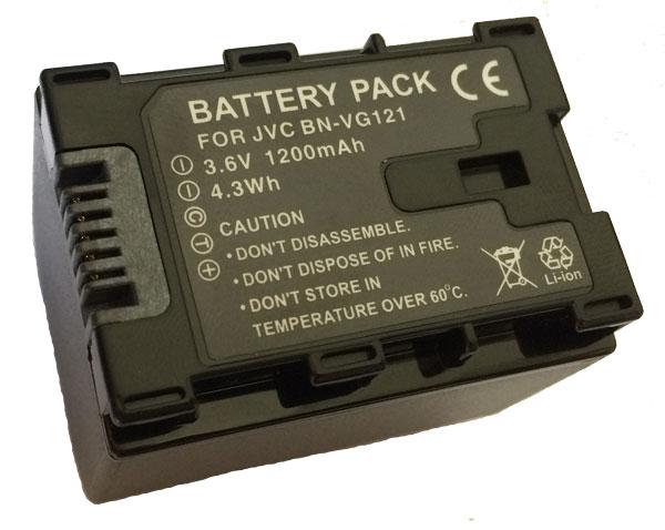 Bateria BN-VG121 para câmera digital e filmadora JVC GZ-HD500, GZ-HM30, GZ-MG760, JVC GZ-MS110, GZ E200