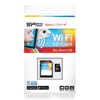 Cartão de memória Silicon Power MicroSDHC Wi-Fi 16GB com adaptador SDHC