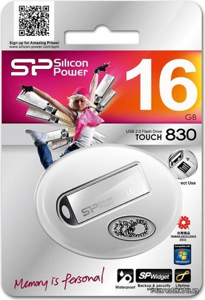 Pen drive Silicon Power Touch 830 16GB Prata