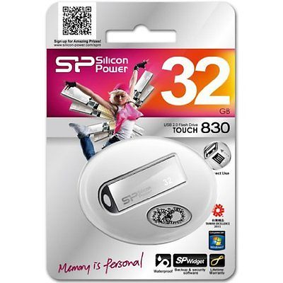 Pen drive Silicon Power Touch 830 32GB Prata