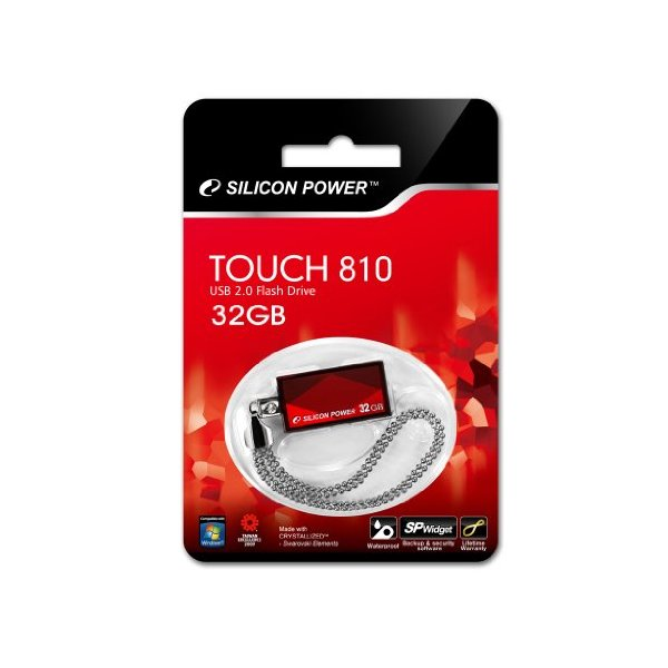 Pen drive Silicon Power Touch 810 32GB Vermelho