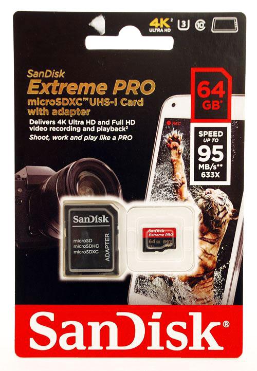 Cartão de memória MicroSDXC SanDisk 64GB Extreme Pro Classe 10 UHS-I 95MB/s 4k