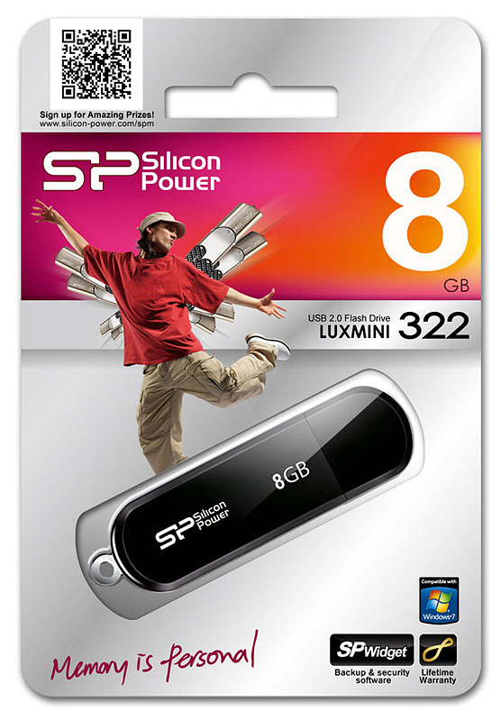 Pen drive Silicon Power LuxMini 322 8GB