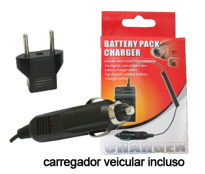 Carregador de Bateria NB-6L para Canon e Samsung SLB-10a SLB-11a Digital Ixus 85 IS, IXY Digital 25IS, PowerShort SX500