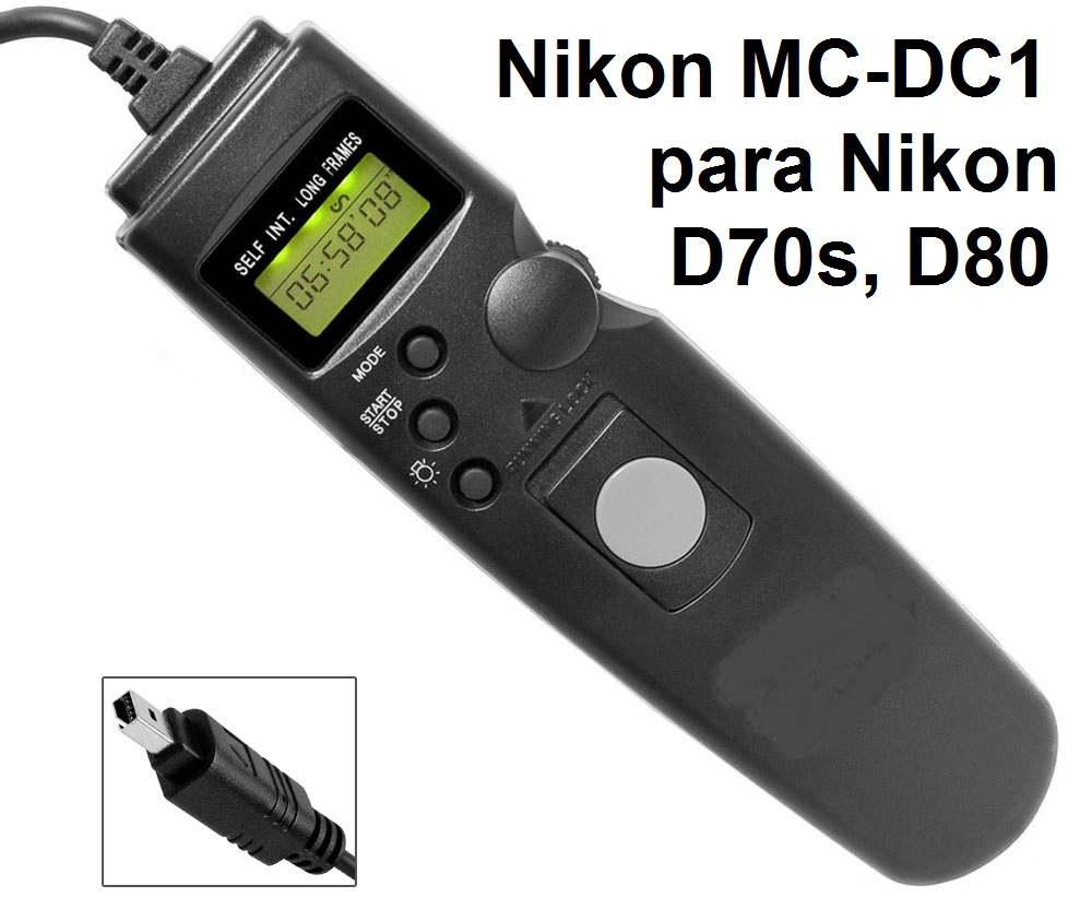 Cabo Disparador Remoto Time Lapse para Nikon MC-DC1 TC1005