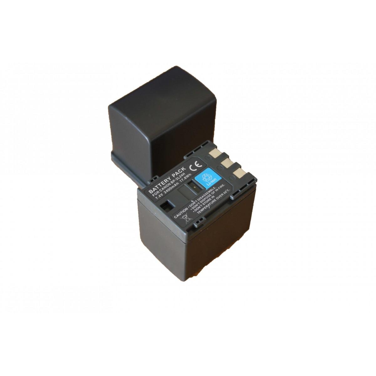 Bateria BP-2L24h 2400mAh para câmera digital e filmadora Canon DC310, Elura 90, Vixia HG10, MD120, Optura 30, ZR100