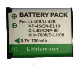 Bateria EN-EL10 740MAH para câmera digital e filmadora Nikon Coolpix S3000, S4000, S570, S600, S610, S700 e outras
