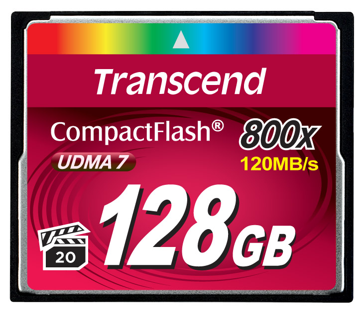 Cartão de Memória Compact Flash CF Transcend 128GB 800x