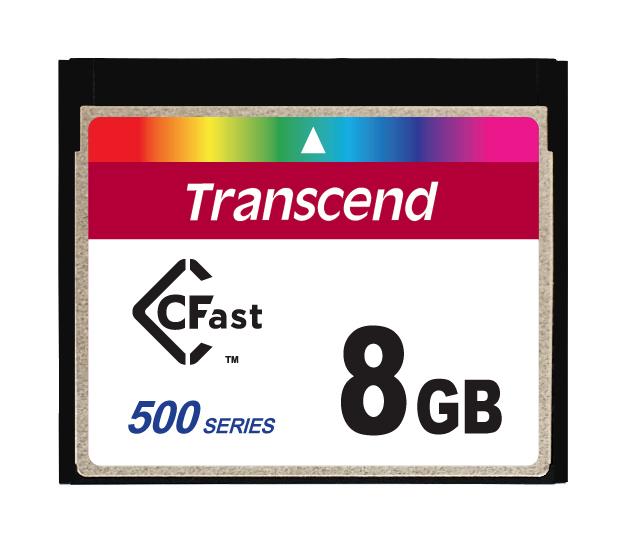 Cartão de memória INDUST TEMP CFAST CARD 8GB TS8GCFX520 520x Industrial Grade