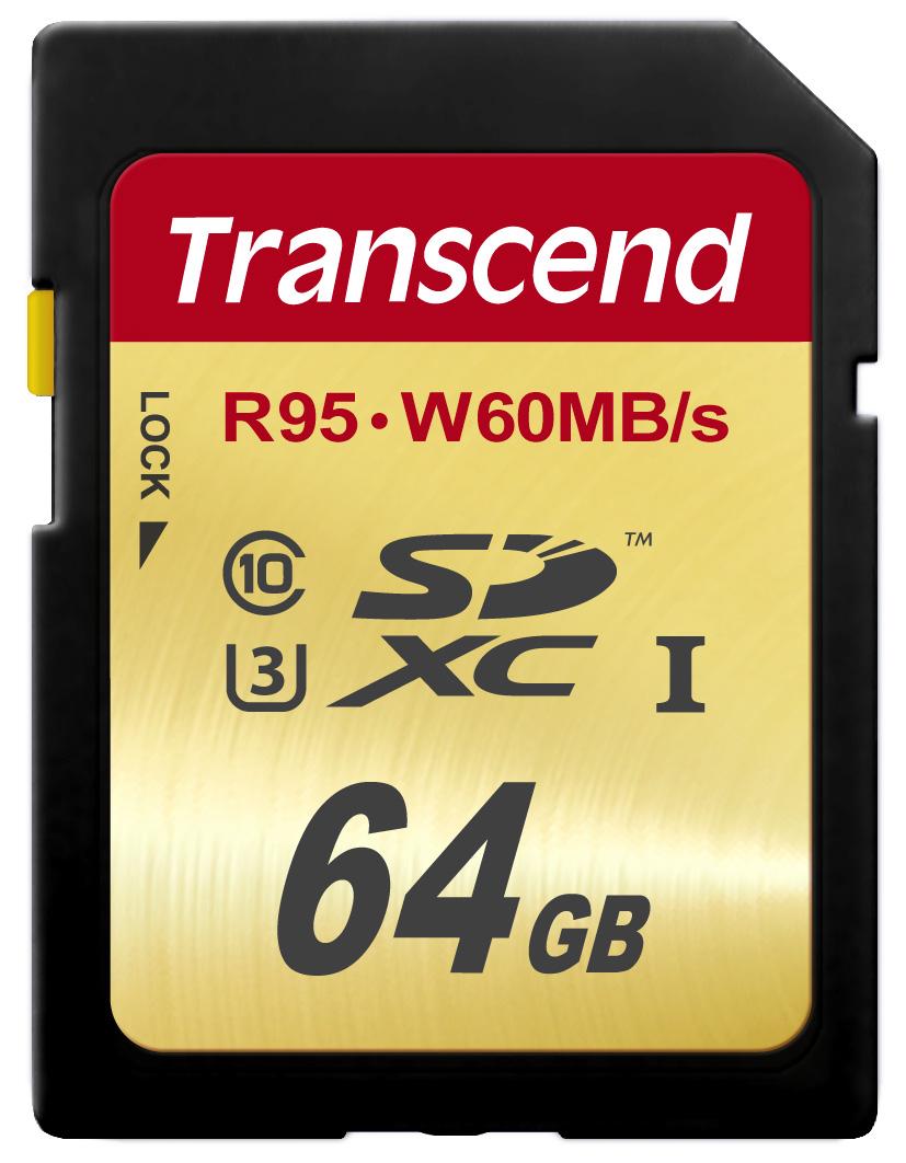 Cartão de Memória SDXC 64GB Transcend Classe 10 Ultimate UHS-1 U3 R95MB/s W60MB/s