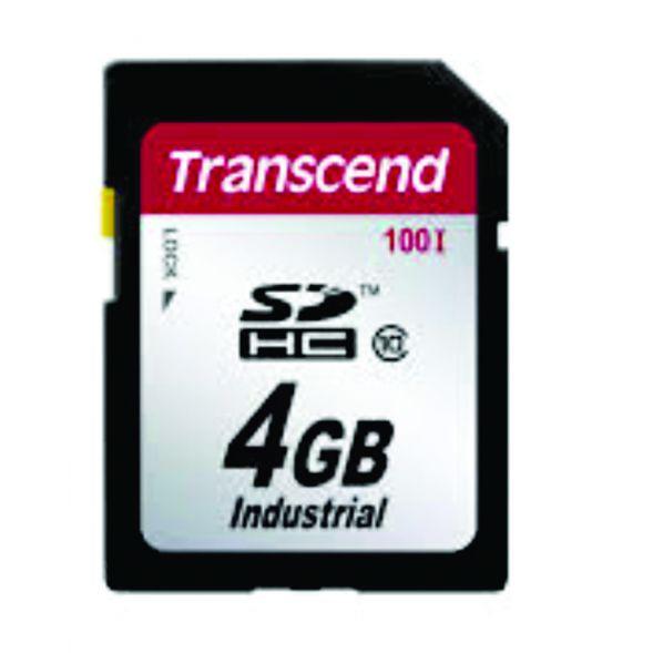Cartão de Memória SDHC Transcend 4GB Industrial TS4GSDHC100I