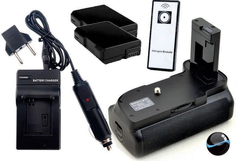 Kit Battery Grip MB-D5100 para Nikon D5100 D5200 + 2 baterias EN-EL14