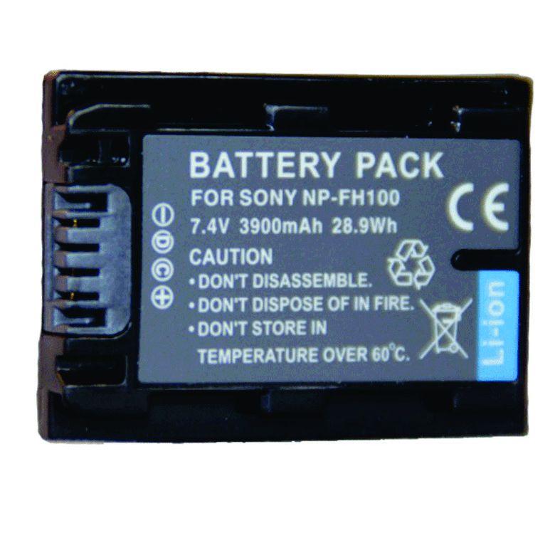Bateria NP-FH100 para câmera digital e filmadora Sony DCR-DVD106, DSC-HX100, HDR-HC3, HDR-CX7, HDR-SR12, Sony HDR-XR100