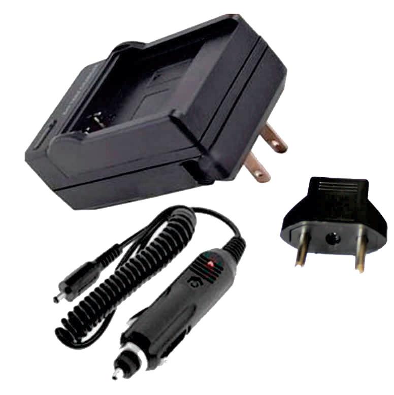 KIT Carregador + Bateria NP-FH50 para Sony DCR-DVD106, DCR-DVD208, DCR-DVD306, DCR-HC37, DCR-HC38