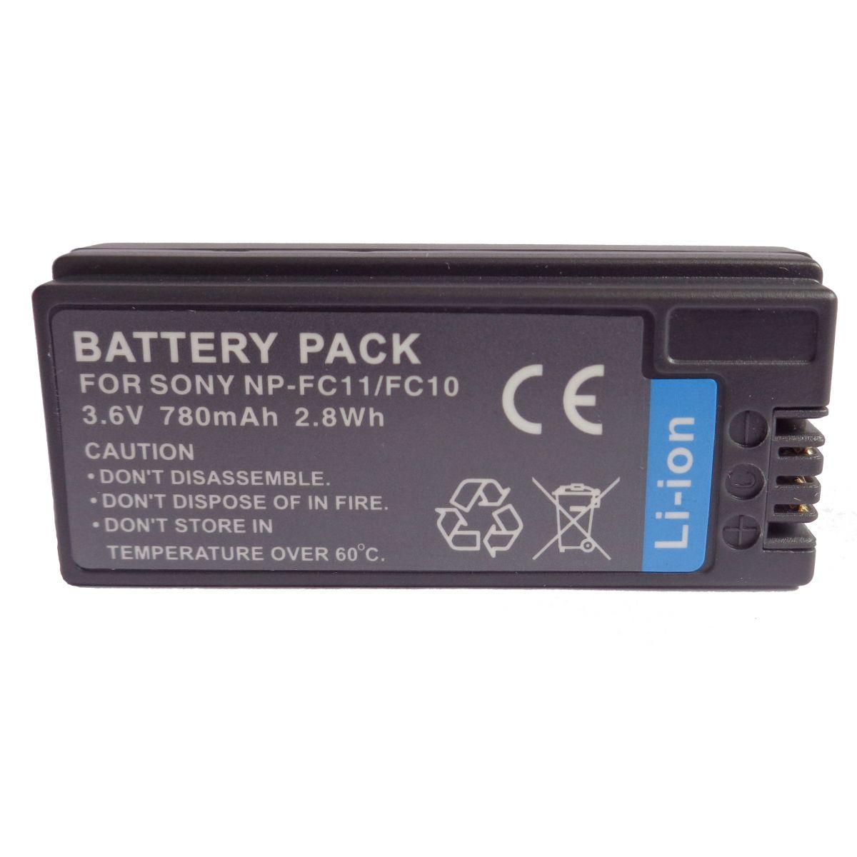 Bateria NP-FC10 para Sony Cyber-shot DSC-P2, DSC-P5, DSC-P10, DSC-P12, DSC-V1, DSC-F7