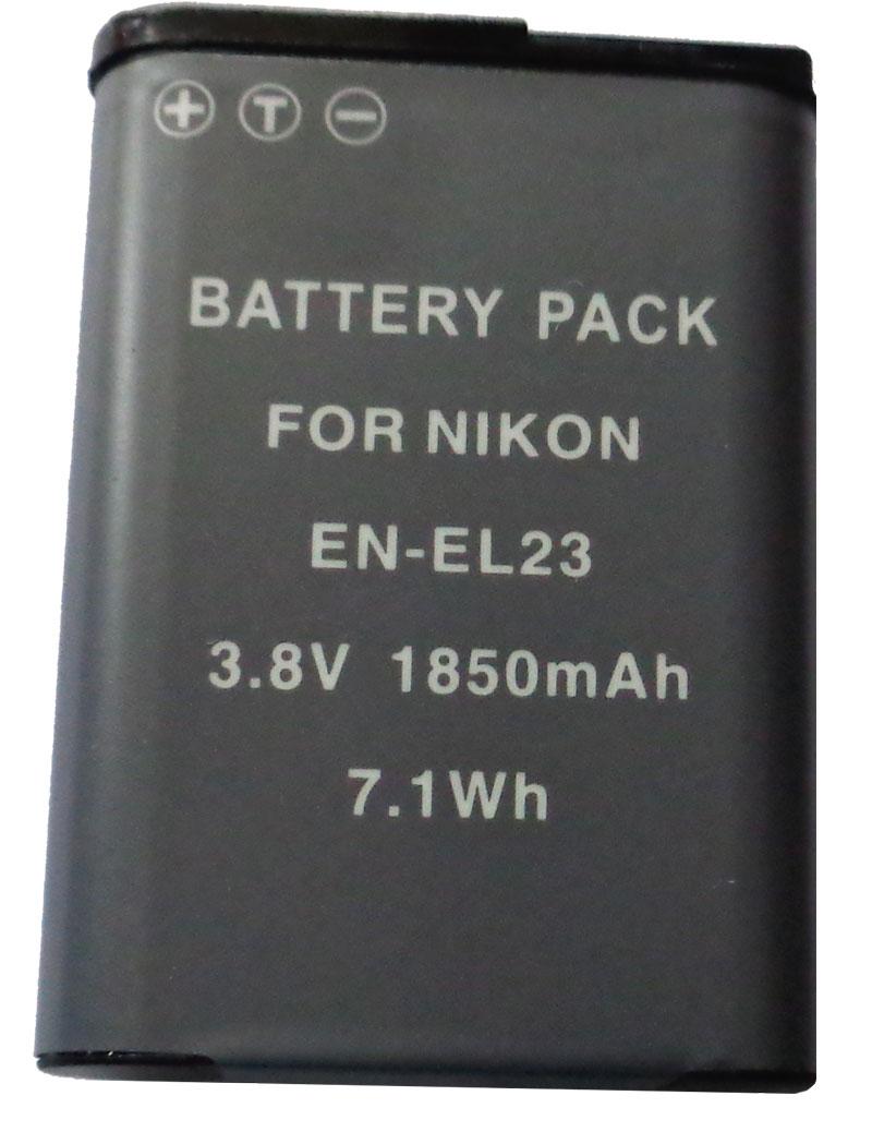 Bateria EN-EL23 para câmera digital e filmadora Nikon CoolPix P600, S810C P900 B700
