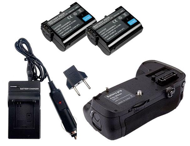 Kit Battery Grip MB-D14 para Nikon D600 + 2 Baterias EN-EL15 + Carregador