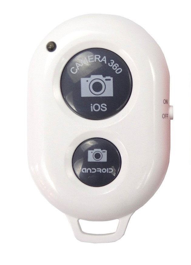 Bastão de Mão Selfie Monopod + Controle  Bluetooth Branco